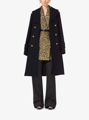 Michael Kors Wool-Melton Officer's Coat