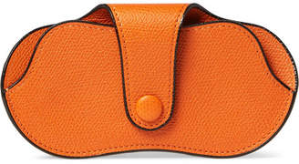 Valextra Pebble-Grain Leather Sunglasses Case
