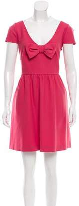 RED Valentino A-Line Bow-Accented Dress w/ Tags