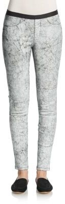Helmut LangCrackle Leather Leggings