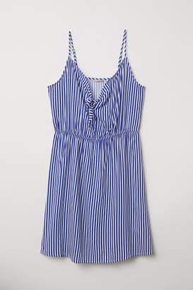 H&M H&M+ Tie-detail Dress - Blue