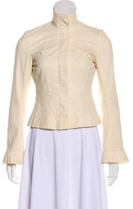 Diane von Furstenberg Fitted Corduroy Button-Up Jacket