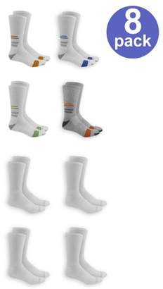 Fruit of the Loom Men's Breathable Half Cushion Crew Socks 8-Pack