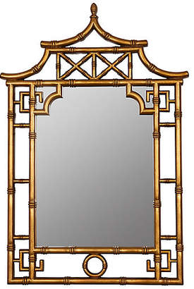 One Kings Lane Chinoiserie Wall Mirror - Gold