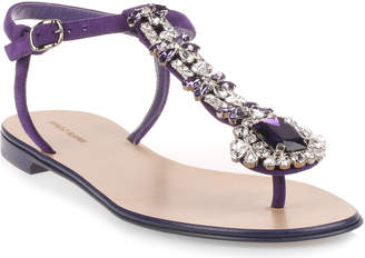 Manolo Blahnik Esfiratomod flat purple suede sandal
