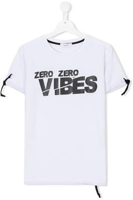 Numero 00 Numero00 Kids TEEN zero zero vibes print T-shirt