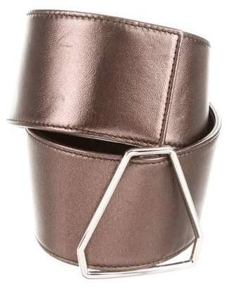 Saint Laurent Metallic Leather Waist Belt