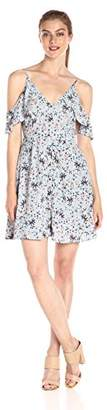 ASTR the Label Women's Gabriella Floral Print Cold Shoulder Dress