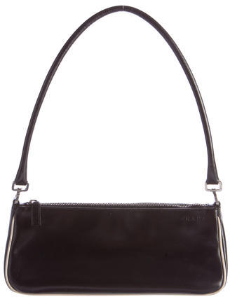 prada Prada Leather Shoulder Bag