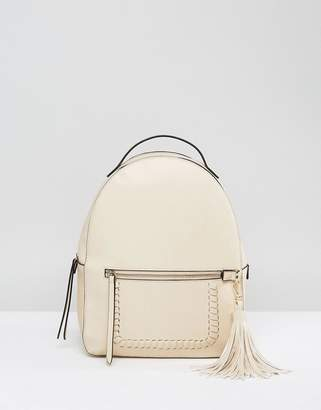 Park Lane Structured Backpack With Tassel