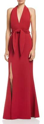 C/Meo Collective Plunging Halter Gown - 100% Exclusive