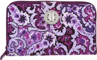 Vera Bradley Signature Print RFID Turnlock Wallet