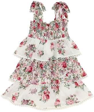 Zimmermann Honour Floral Print Cotton Dress