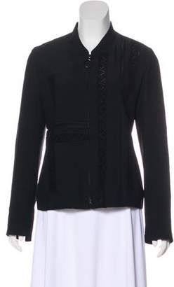 Akris Punto Lace-Trimmed Long Sleeve Jacket