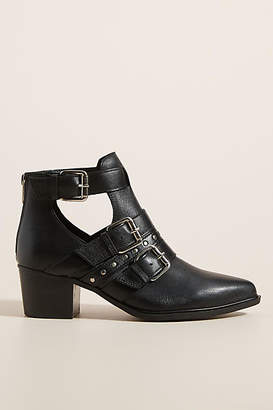 Steve Madden Steven by Open Buckle Ankle Boots