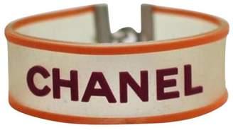 Chanel Clover Orange & Magenta Clear Rubber Bracelet