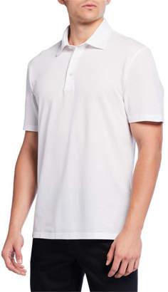 Ermenegildo Zegna Men's Pique Polo Shirt, White