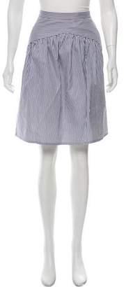 Atlantique Ascoli Stripe Knee-Length Skirt