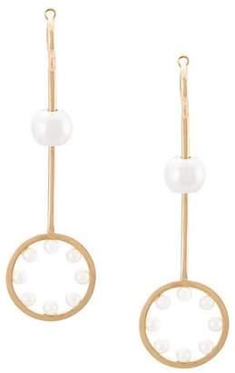 Delfina Delettrez 18kt Yellow Gold bubble pearl earring
