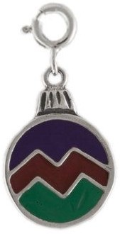 Sterling Silver Ornament Charm with Enamel