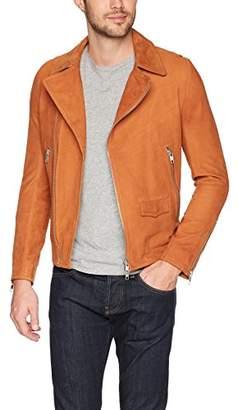 J. Lindeberg Men's Smooth Suede Moto Jacket