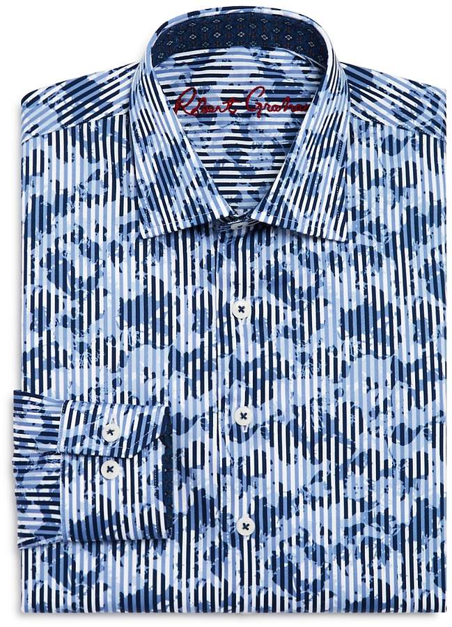 Boys' Printed Striped Dress Shirt - Big Kid