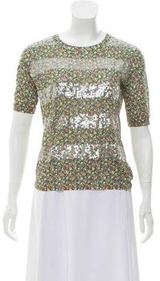 Tory Burch Sequin Printed Pullover w/ Tags