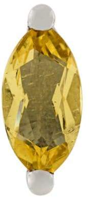 Delfina Delettrez 18kt gold Dots Solitaire beryllium and pearl earring