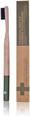 Ernest Supplies Men's Charcoal Bristle Bamboo Toothbrush