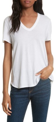 Women's Veronica Beard Cindy V-Neck Tee $88 thestylecure.com