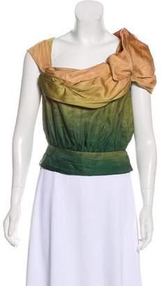 Louis Vuitton Asymmetrical Silk Top