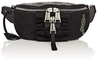 Moschino Women's Leather-Trimmed Belt Bag