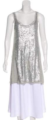 Magaschoni Sleeveless Sequin Tunic