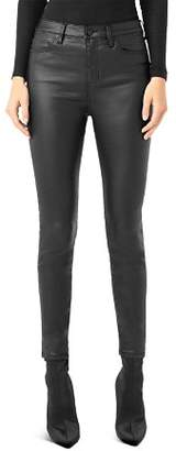 Liverpool Abby Faux-Leather Skinny Fit Ankle Pants