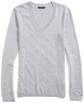 Final Sale-French Knot Dot Print Sweater $64.50 thestylecure.com