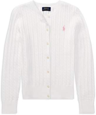 Polo Ralph Lauren Girls' Cable-Knit Cardigan - Big Kid