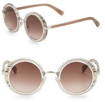 Jimmy Choo Jimmy Choo 50mm Embellished Round Sunglasses