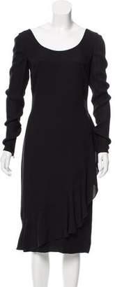 Valentino Long Sleeve Midi Dress