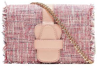 Micro-Chain Crossbody Tweed Bag $128 thestylecure.com