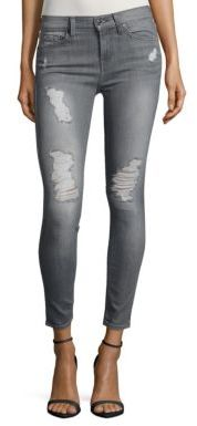 7 For All MankindGwenevere Distressed Ankle Jeans