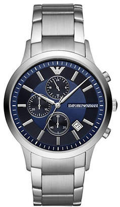 Emporio Armani Renato Chronograph Stainless Steel Watch