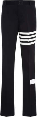 Thom Browne Striped Cotton-Twill Straight-Leg Pants