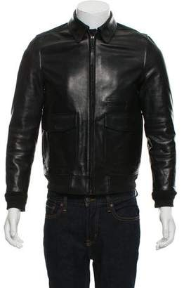 Oamc Leather Bomber Jacket
