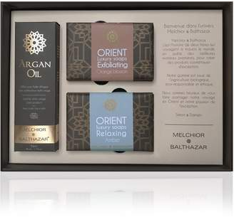 Melchior & Balthazar - Exception Gift Box (50ml Argan Oil, Relaxing Amber & Exfoliating Orange Blossom Creamy Soaps)