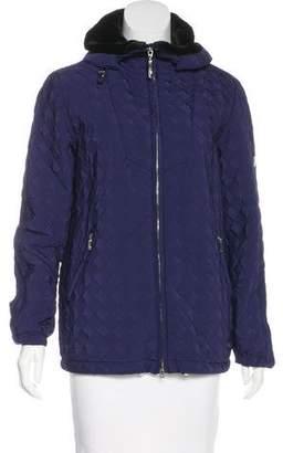 Post Card Jacquard Hooded Jacket