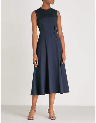 Sportmax Asdor ribbed-knit panel stretch-crepe dress