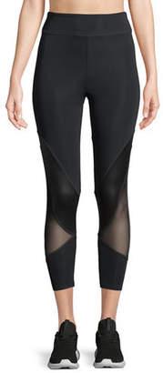 Cushnie et Ochs Amelie Cropped Leggings w/ Mesh Panels