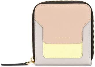 Marni squared zip around wallet