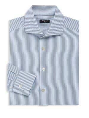 Kiton Striped Cotton Dress Shirt