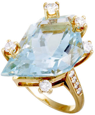 Chaumet Heritage  18K 12.75 Ct. Tw. Diamond & Aquamarine Ring